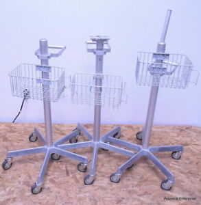 Lot Of 3 Medical Instruments Stand Pole Alaris Dinamap Welch Allyn