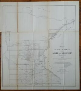 1859 Public Surveys In The State Of Minnesota Map