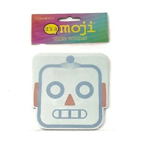 Emoji Sticky Note Pad Robot Face It s A Moji Memo Flag Office Home School Gift