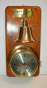 Plastimo Quartz Solid Brass Ship S Bell Striking Maritime Clock W Bell Works