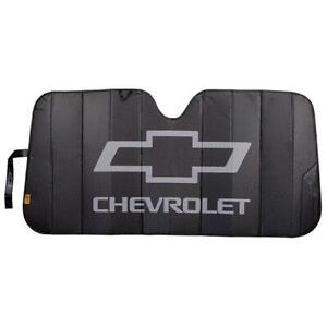Plasticolor Chevrolet Logo Black Matte Accordion Windshield Sunshade 003864r01