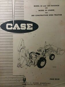 Case 580 Ck Tractor 33 Loader 335 Backhoe Implement Attachments Parts Manual