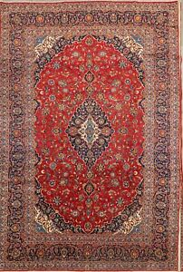 Vintage Traditional Floral Carpet 9x13 Wool Handmade Persian Oriental Area Rug