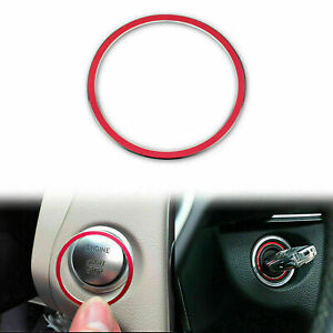 Ignition Inner Ring Trim Red For Mercedes Benz Keyless Remote Key Start Button