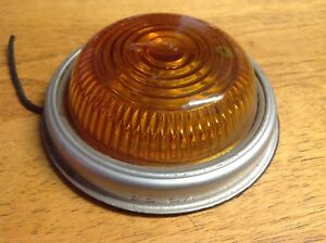 Nos Vintage Amber Vp 56 Glass Clearance Lamp Marker Light Travel Trailer Truck