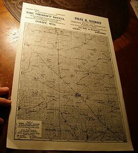 Soo Line Rr Colby Wi Plat Map