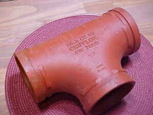 Gruvlok Figure 7060 Tee 4 Inch Grooved Fitting 114 8mm New