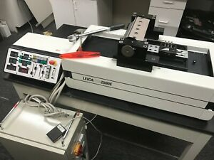 Refurbished Leica Sm2500e Polycut Sliding Microtome With 9 Months Warranty