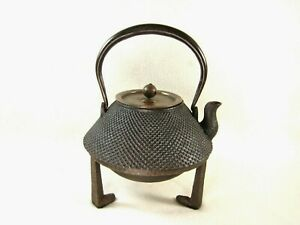 Vintage Japanese Showa Era Tea Ceremony Cast Iron Chado Gotoku Kettle Stand