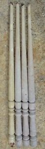Painted Victorian Oak Table Furniture Legs Set Of 4 Shabby N Chic 30 3 4 High