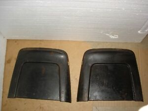 1967 67 Chevelle Ss Gto Buick Nova A Body Original Bucket Seat Back Metal Trim