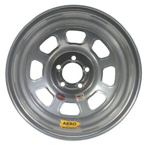 Aero Race Wheels 52 series 15x8 3in Bs 5x4 5 Steel Silver