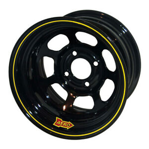 Aero Race Wheels 30 series 13x7 3in Bs 4x4 25 Steel Black