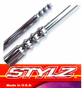 Stylz 6 Chrome Billet Antenna Fits 1979 Thru 2009 Ford Mustang