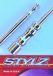Stylz 9 Chrome Billet Antenna Fits 1979 Thru 2009 Ford Mustang
