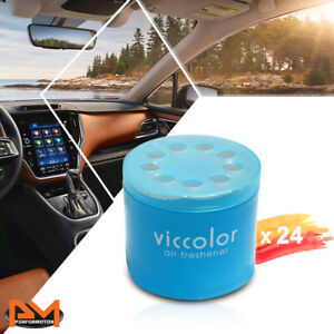 X24 Viccolor Car bathroom Air Freshener Lasting Squash Scent Fragrance Gel 85g