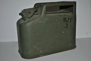 Military Jerry Can 2 5gal 10litre Vin Sm 1956 French