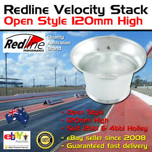 New Redline Velocity Ram Stack Open Style 120mm High Fits 2bbl 4bbl Holley