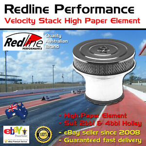 Redline Velocity Stack Air Cleaner High Paper Element Fits 2bbl