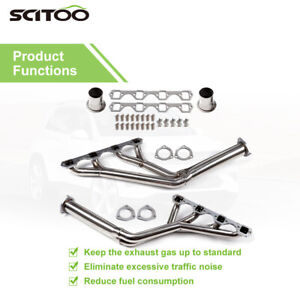 Tri Y Stainless Steel Exhaust Headers Fits Ford 260 289 302 Mustang 1964 1970 V8