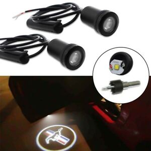 2 X Wireless Car Door Welcome Projector Ghost Shadow Logo Led Light For Mustang