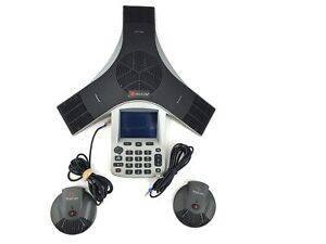 Polycom Cx3000 Hd Voice Ip Conference Phone Ms Lync 2201 15810 001 With Mic Pods