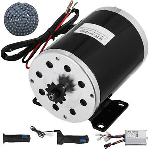1000w 48v Dc Electric Motor Controller Throttle Chain Go kart Motorized Bicycle