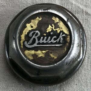 Original Buick Threaded Hubcap With Script Letters