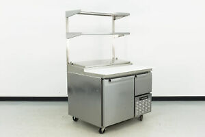 Used Continental Cpa43 43 2 Door Refrigerated Pizza Prep Table