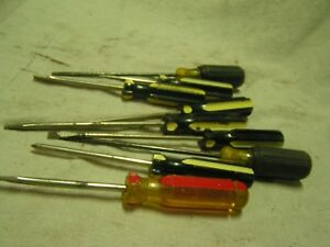 Large Lot 9 Stanley Usa Screw Drivers
