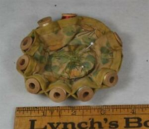 Sewing Pin Cushion Thread Holder Wood Spools 3 75 In Antique Original 1920