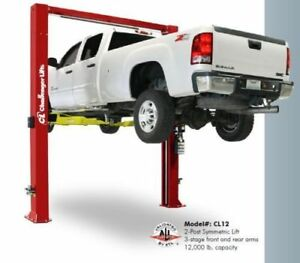New 2 Post Challenger Lift 12 000 Lb Cl12 12k Hoist Usa Cl 12