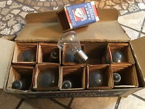 Nos Box 10 Auto Head Lamp Head Car Spot Light Bulbs Eveready Ge 1195 12 16v 50cp