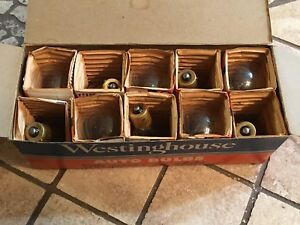Nos Box 10 Auto Head Lamp Head Spot Light Bulbs Westinghouse 1041 18 24v 50cp
