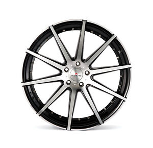 24 Range Rover Sport Hse Supercharged Four Wheels Rims Rayanni R10 Glossy Black