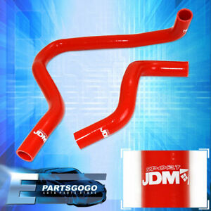 1997 2001 Honda Prelude H22a Accord F22 Silicone Radiator Hose Kit Jdm Red