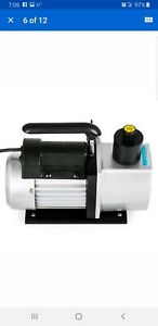 2 Stage 5cfm Rotary Vane Vacuum Pump 1 2hp Hvac Ac Refrigerant Air Conditioning