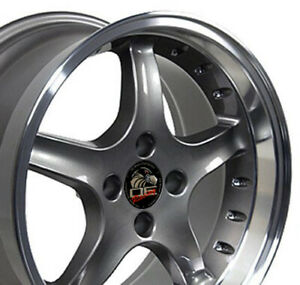 17x9 17x8 Wheels Fit Ford Mustang Cobra R Style Anthracite Rims Set Cp