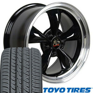 17 Wheel Tire Set Fit Ford Mustang Bullitt Style Black Rim W Mach D Lip Toyo