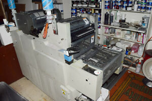Hamada 665dw Offset Press With Inks Chemistry Plate Burner Extras