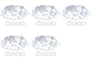 500 White Puff Pad Earring Cards Jewelry Display 1 X 1