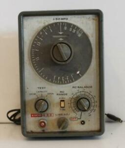 Vintage Eico Model 955 In Circuit Capacitor Checker Meter Tester 1 50 Mfd