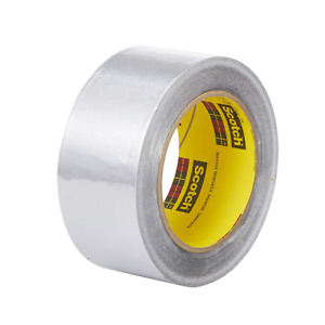 3m High Temperature Aluminum Foil Tape 433 Silver 2 In X 60 Yd 3 6 Mil