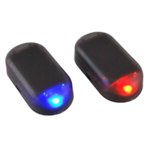 Fake Solar Car Alarm Led Light Security System Warning Theft Red Flash Blinking