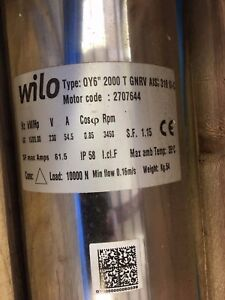Wilo 2707644 20hp 6a Ag mine 6 Rewindable Submersible Pump Motor M6 Nib Nos