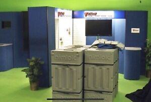 Nimlock Custom 10 X 20 Trade Show Booth With Tower And Overhead Logo Display