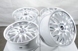 17x7 5 4x100 4x114 3 White Wheels Fits Accord Mazda Miata Mazda2 Mx5 4 Lug Rims