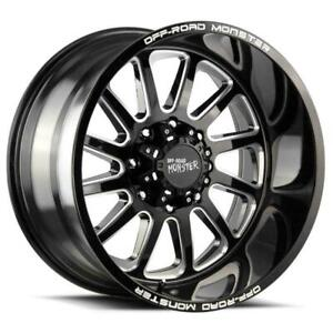 20x10 Off Road Monster M17 6x5 5 6x139 7 19 Black Milled Wheels Rims Set 4