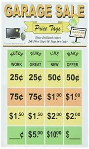 Garage Sale Labels 240 Round Price Stickers Great For Organizing And Pricing I