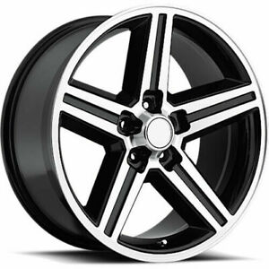 One 20x8 5 Strada Replica R148 Iroc Replica 5x114 3 35 Black Machine Wheels Rims